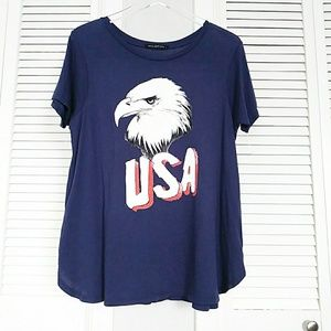 NWOT WILDFOX GRAPHIC TEE SIZE L EAGLE USA